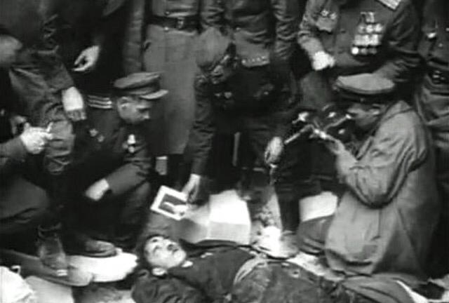Смерть Гитлера и Геббельса, Знамя Победы над Рейхстагом и Парад на Красной Площади 1 мая 1945 года.